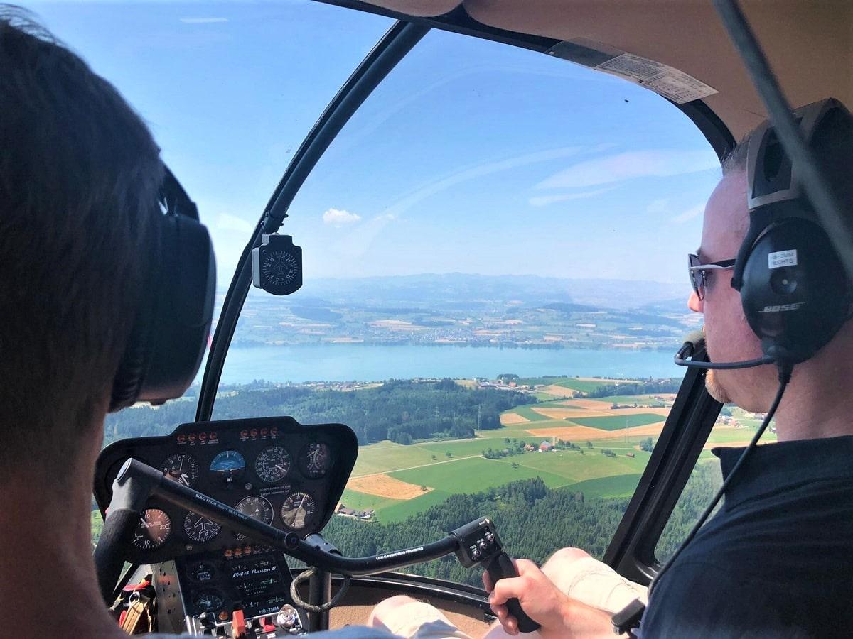 Elite Flights, Robinson R44, HB-ZMM, Sempachersee, Helikopter-Flotte Luzern-Beromünster, Grenchen