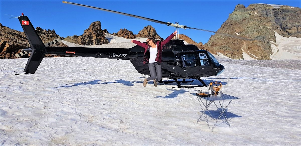 Bell 206 Jet Ranger, HB-ZPZ, Alpenrundflug mit Gletscherlandung, Helikopter Luzern-Beromünster