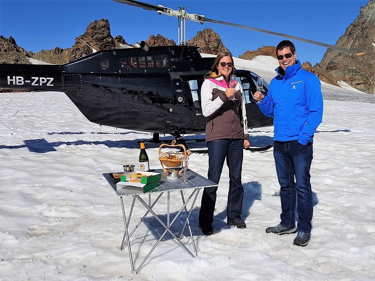 Bell 206 Jet Ranger, HB-ZPZ, Alpenrundflug mit Gletscherlandung, Luzern-Beromünster