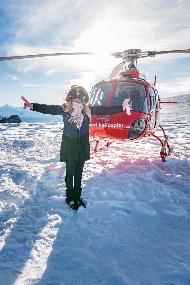 AS350 Ecureuil, HB-ZPF, Firmenausflug, Gletscherlandung Petersgrat