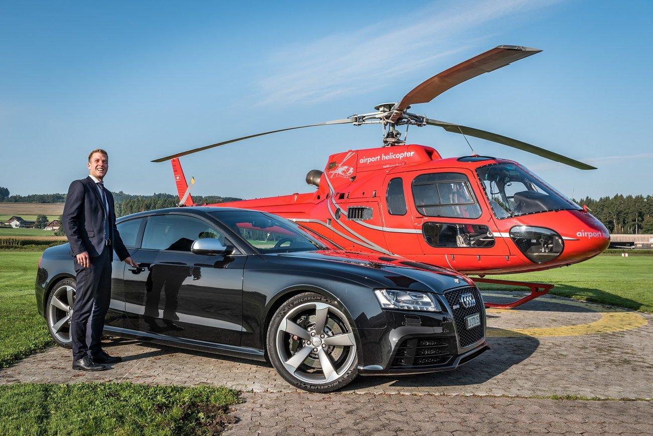 AS 350 B2 Ecureuil, HB-ZPF, Taxiflug, Helikopterflug, Helikopter fliegen, Luzern-Beromünster