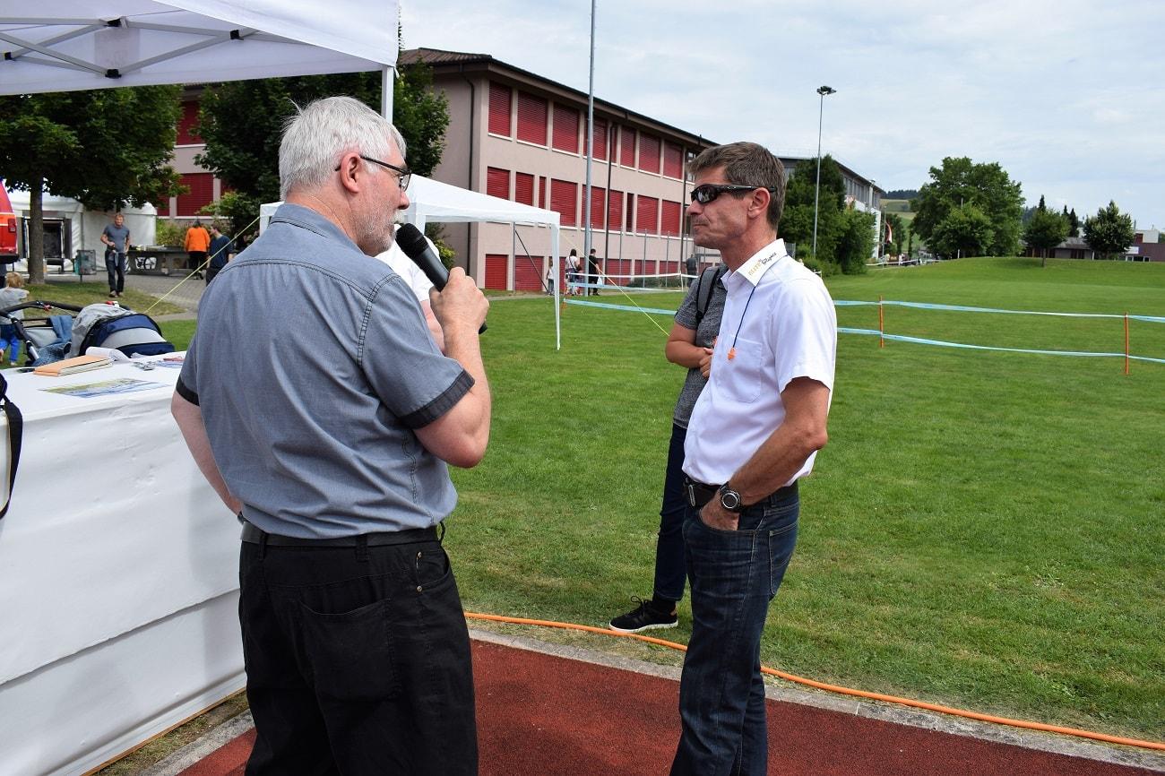 Rundflugtage Rohrbach stellt aus, Interview mit Pilot Daniel Spörli