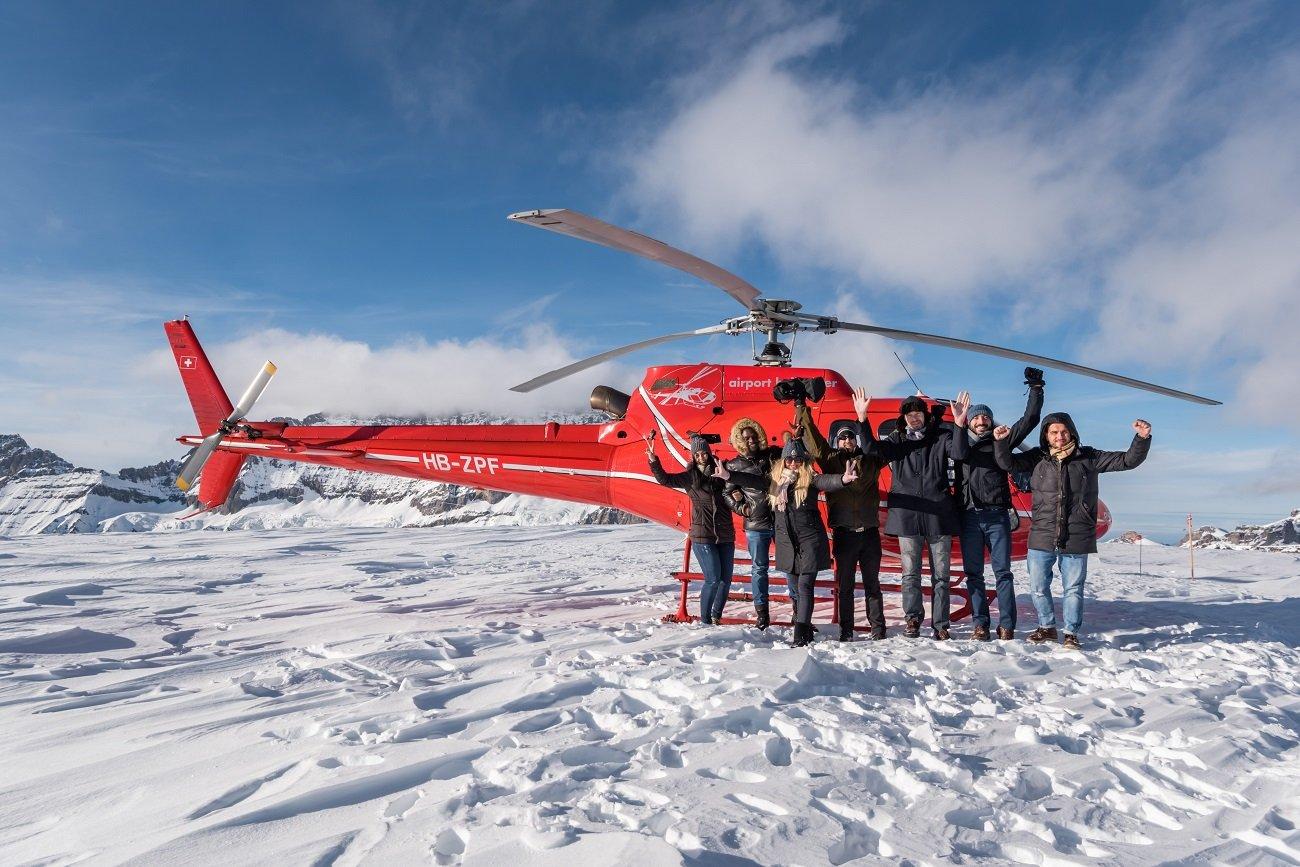 AS 350 B2 Ecureuil, HB-ZPF, Firmenausflug, Petersgrat, Alpenrundflüge Schweiz