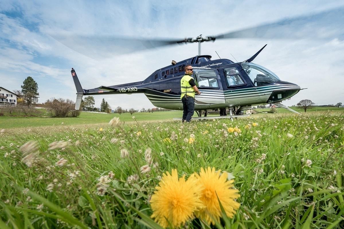 Elite Flights, Bell 206 Jet Ranger, HB-XXO, Rundflugtage Wängi Aktiv 2018, Helikopter-Flotte Luzern-Beromünster, Grenchen, Basel