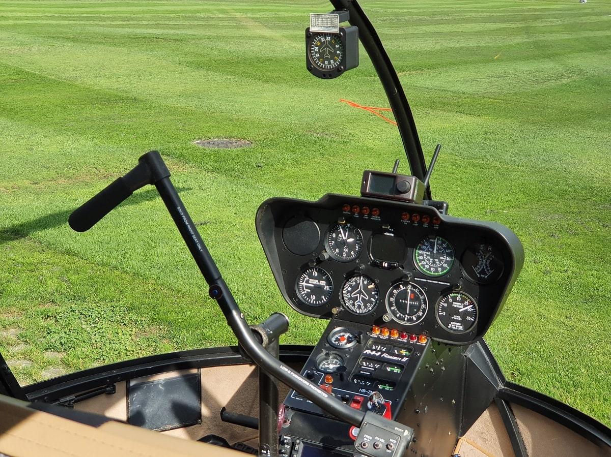 Elite Flights, Robinson R44, HB-ZMM, Cockpit View, Helikopter-Flotte Luzern-Beromünster, Grenchen