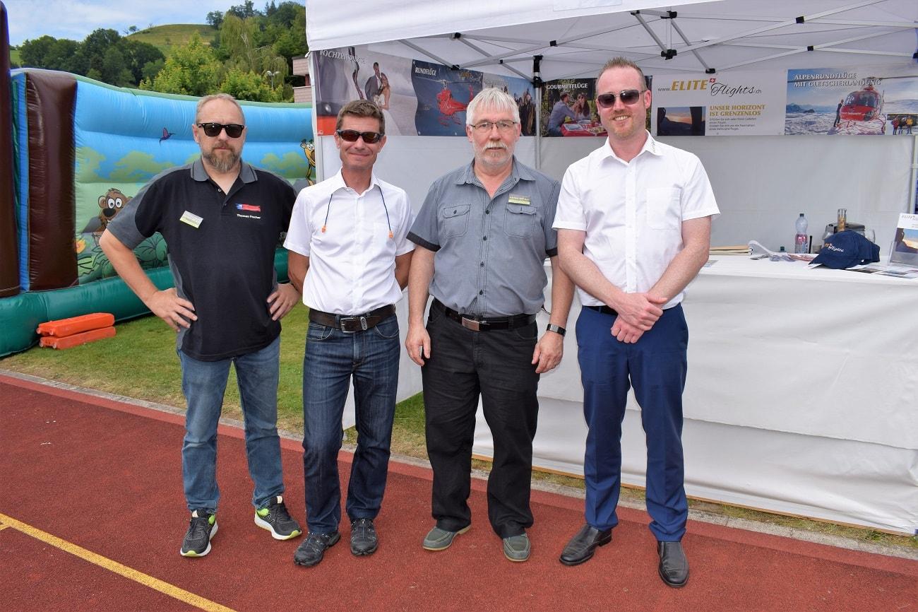 Rundflugtage Rohrbach stellt aus, Pilot Daniel Spörli und Philipp Walker
