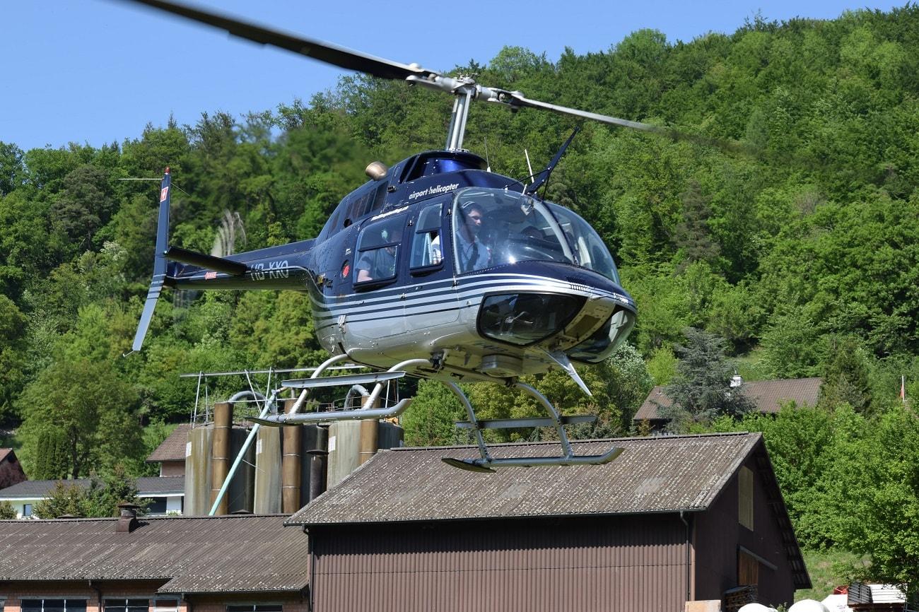 Bell 206 Jet Ranger, HB-XXO, Rundflugtage Mettau, Expo Duo, Departure