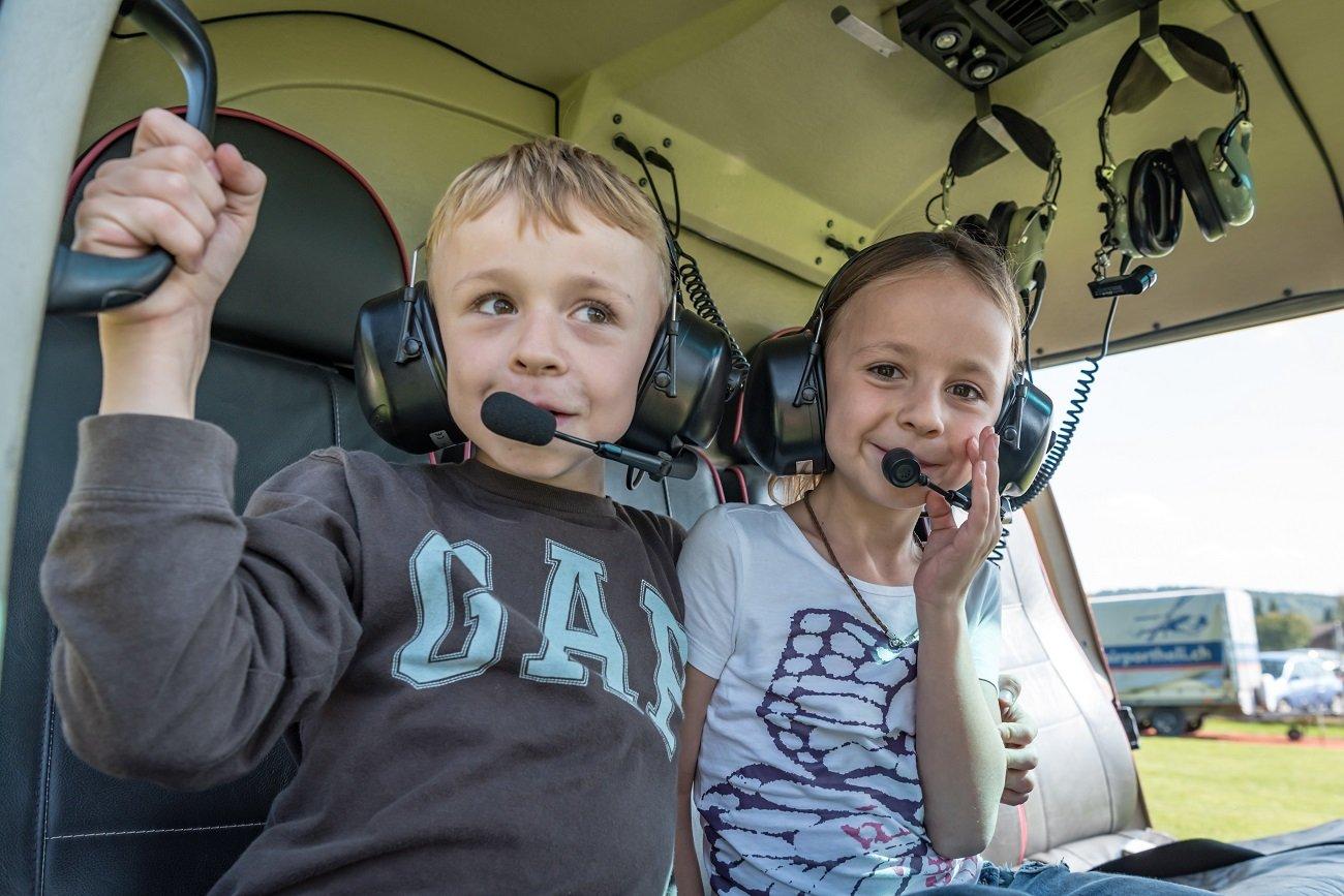 Rundflugtag Wynau, Helikopterflug,  Happy Kids
