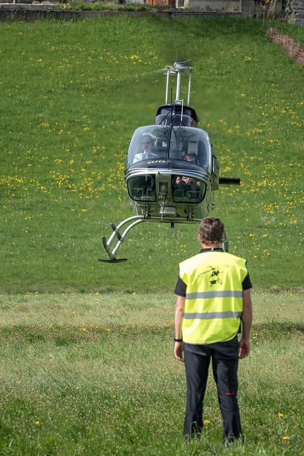 Bell 206 Jet Ranger, HB-XXO, Rundflugtage Wängi Aktiv 2018, Approach