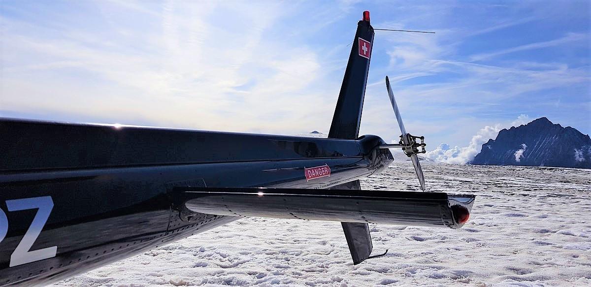 Elite Flights, Bell 206 Jet Ranger, HB-ZPZ, Alpenrundflug mit Gletscherlandung, Helikopter Luzern-Beromünster