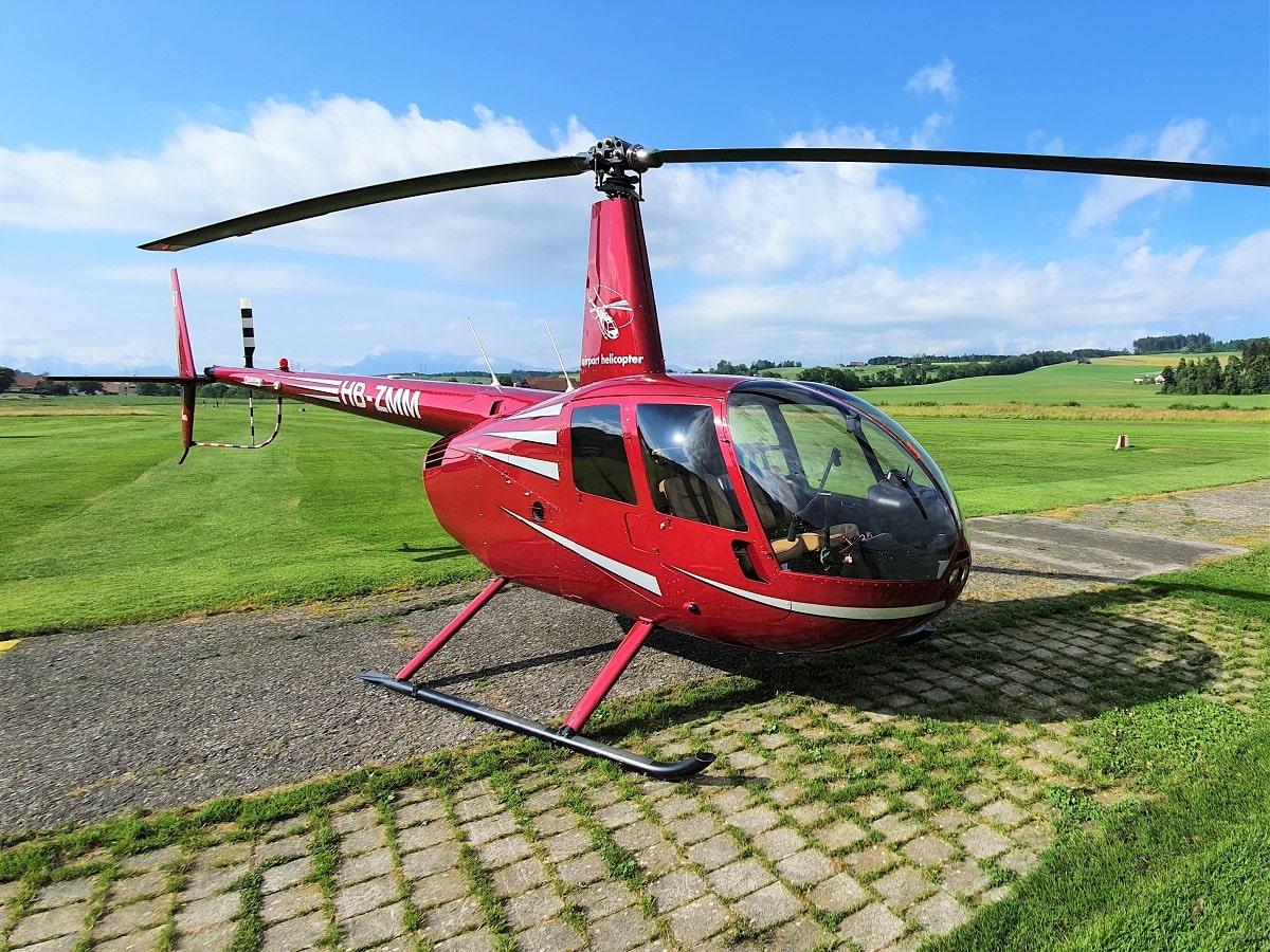 Elite Flights, Robinson R44, HB-ZMM, Helikopter-Flotte Luzern-Beromünster, Grenchen