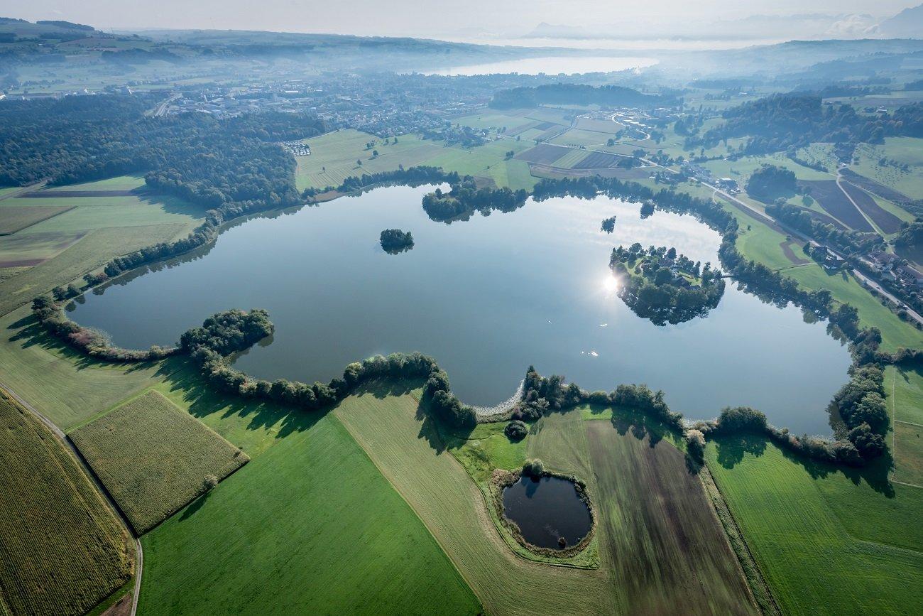 Fotoflug, Luftaufnahme, Mauensee, Luzern-Beromünster