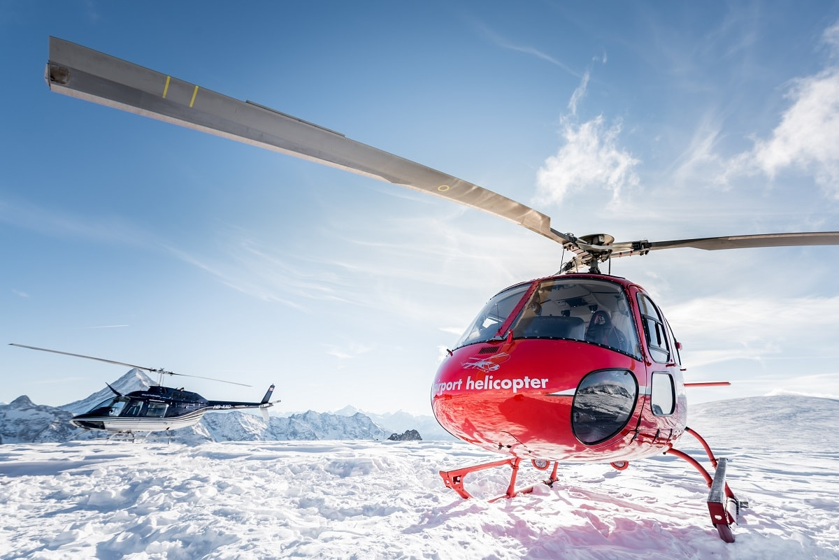 Elite Flights, AS 350 B2 Ecureuil, HB-ZPF, Alpenrundflug mit Gletscherlandung, Petersgrat, Helikopter-Flotte Luzern-Beromünster