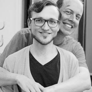Marc Groneberg mit Moderator Stefan Kossanyi