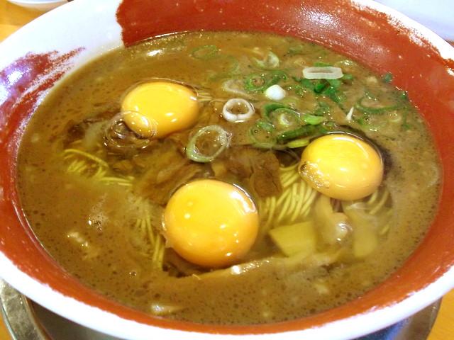 徳島ラーメン麺王@天白区 ラーメン ¥580 ※卵入れ放題