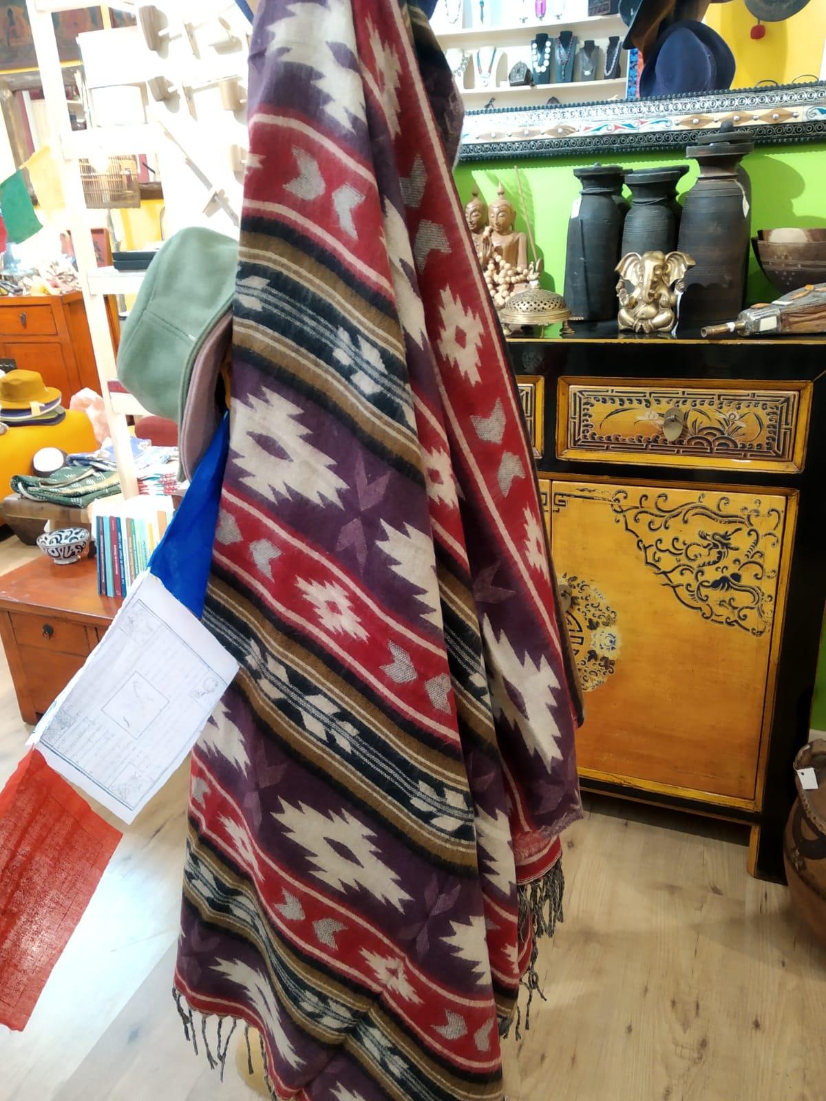Nepal coperta lana yak  210x100     48euro
