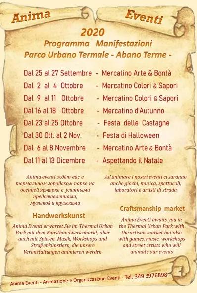 Lista mercatini ad Abano Terme