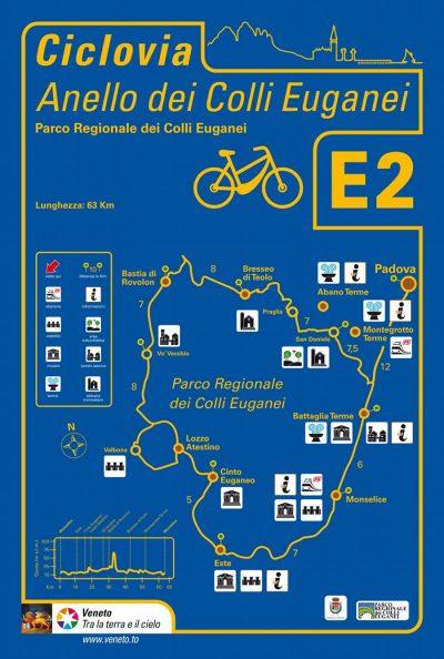 Cartello che indica i paesi toccati dall'E2