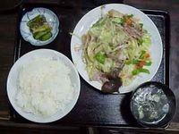 【野菜炒め定食】