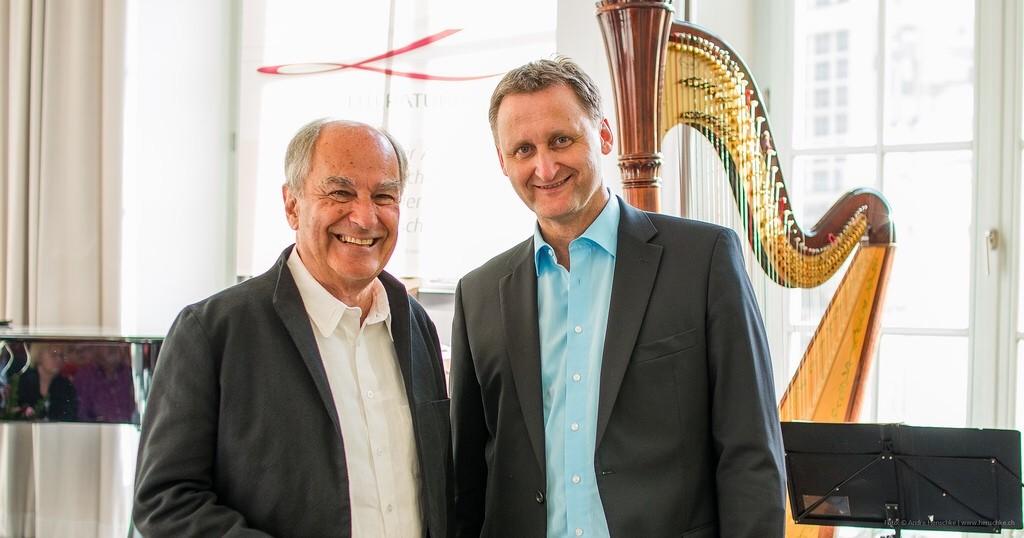 Der Autor (Claus Böhm, li.) und sein Verleger (Dirk Kohl, Weltbuch Verlag)