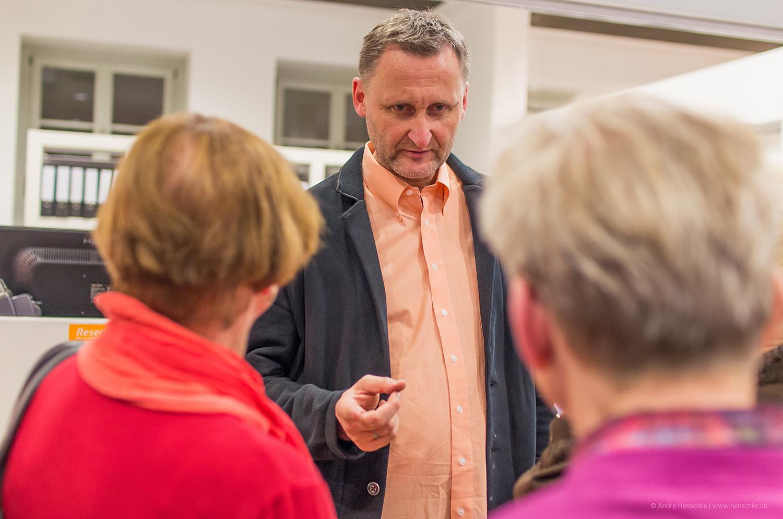 Dirk Kohl im Gespräch mit Familie Pietsch