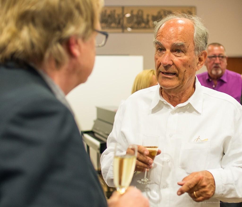 Claus Böhm (re.) im Gespräch mit Prof. Ingo Kolboom