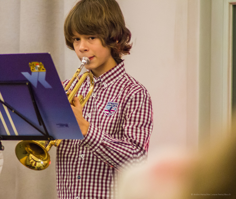 Richard Harnisch (11) an der Trompete