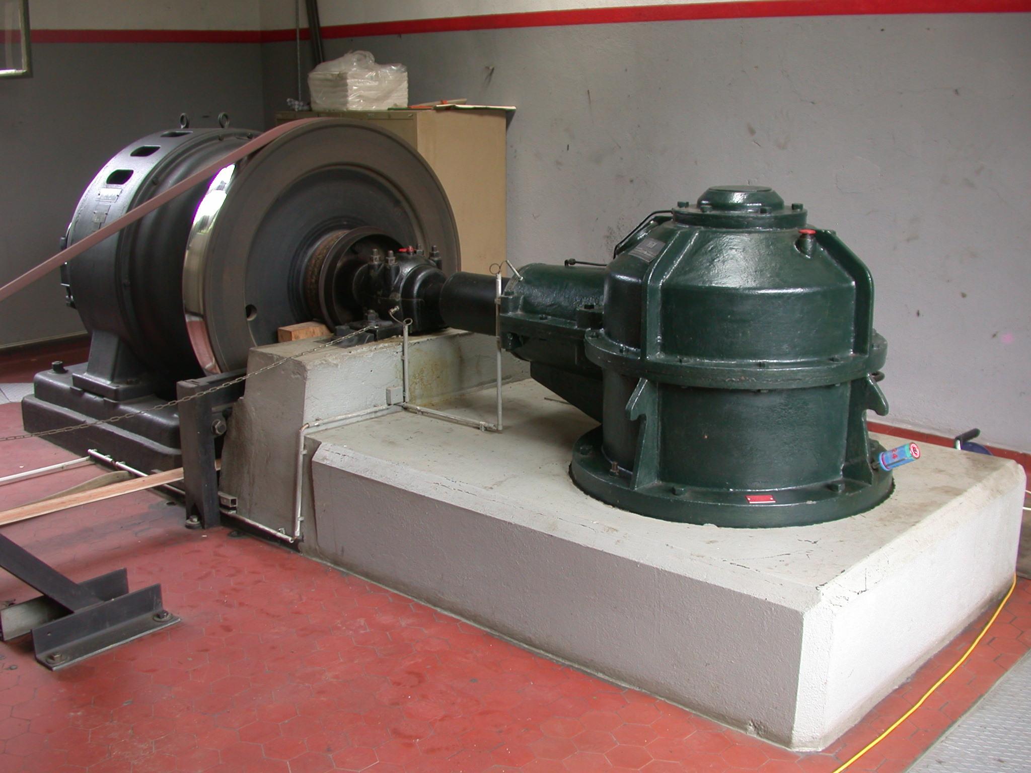 Unterhalt und Revision historischer Kraftwerksanlagen, KW Oederlin, Rieden