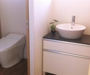 トイレや洗面台は十分なスペースを取らせていただきました。