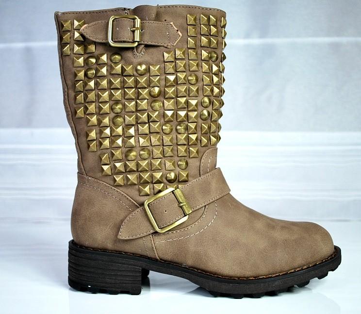Vintage Schnürstiefeletten, Biker Boots, Booties Rock chic ebU6o
