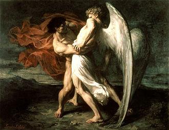 Jacob lutte avec l'Ange : de l'Antiquité à nos jours