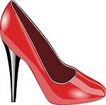 Erotischer roter High Heel