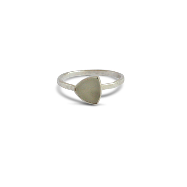 Ting Goods Handmade Triangle Stone Ring Jasper