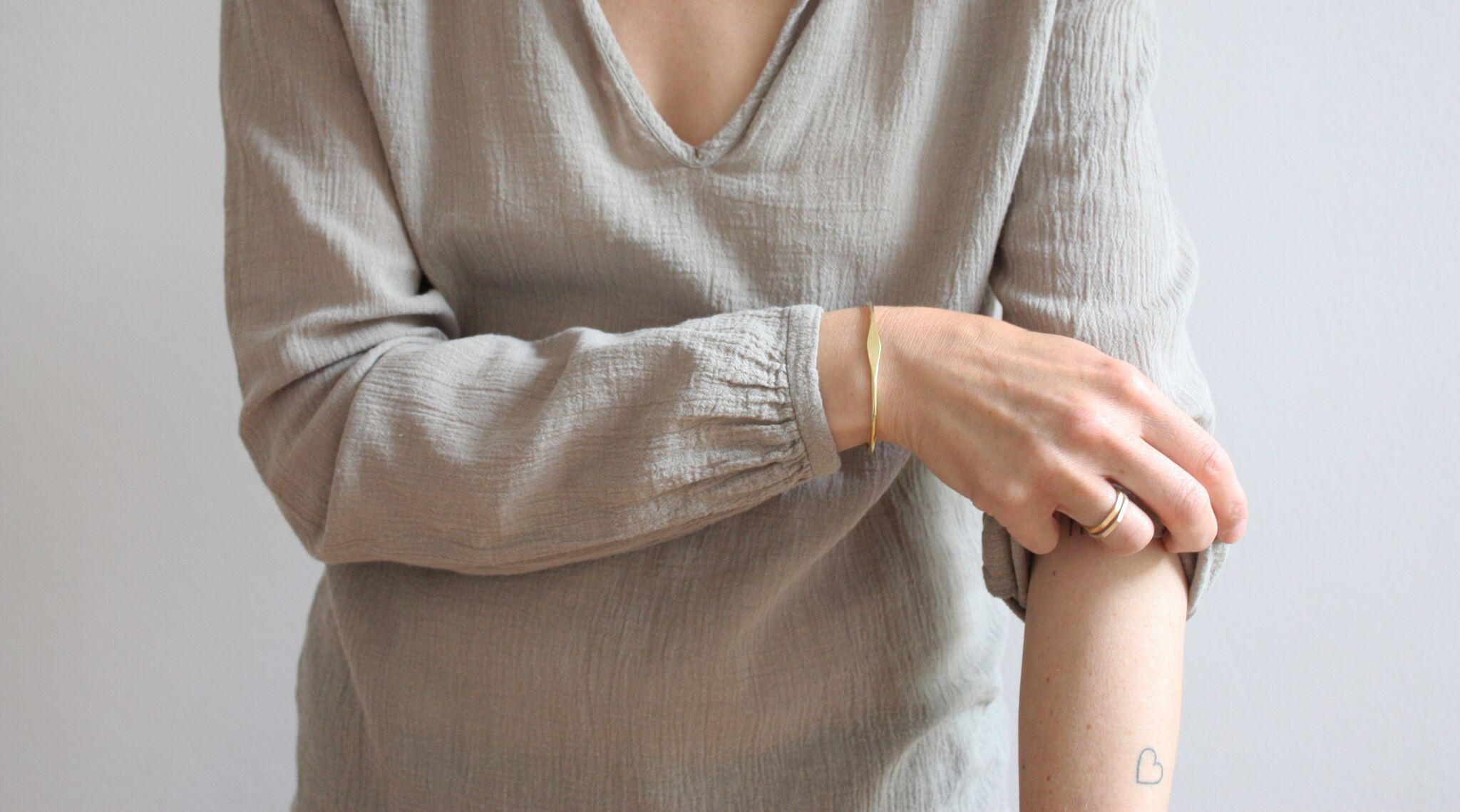 Ting Goods Flat Rhomb Bracelet Brass