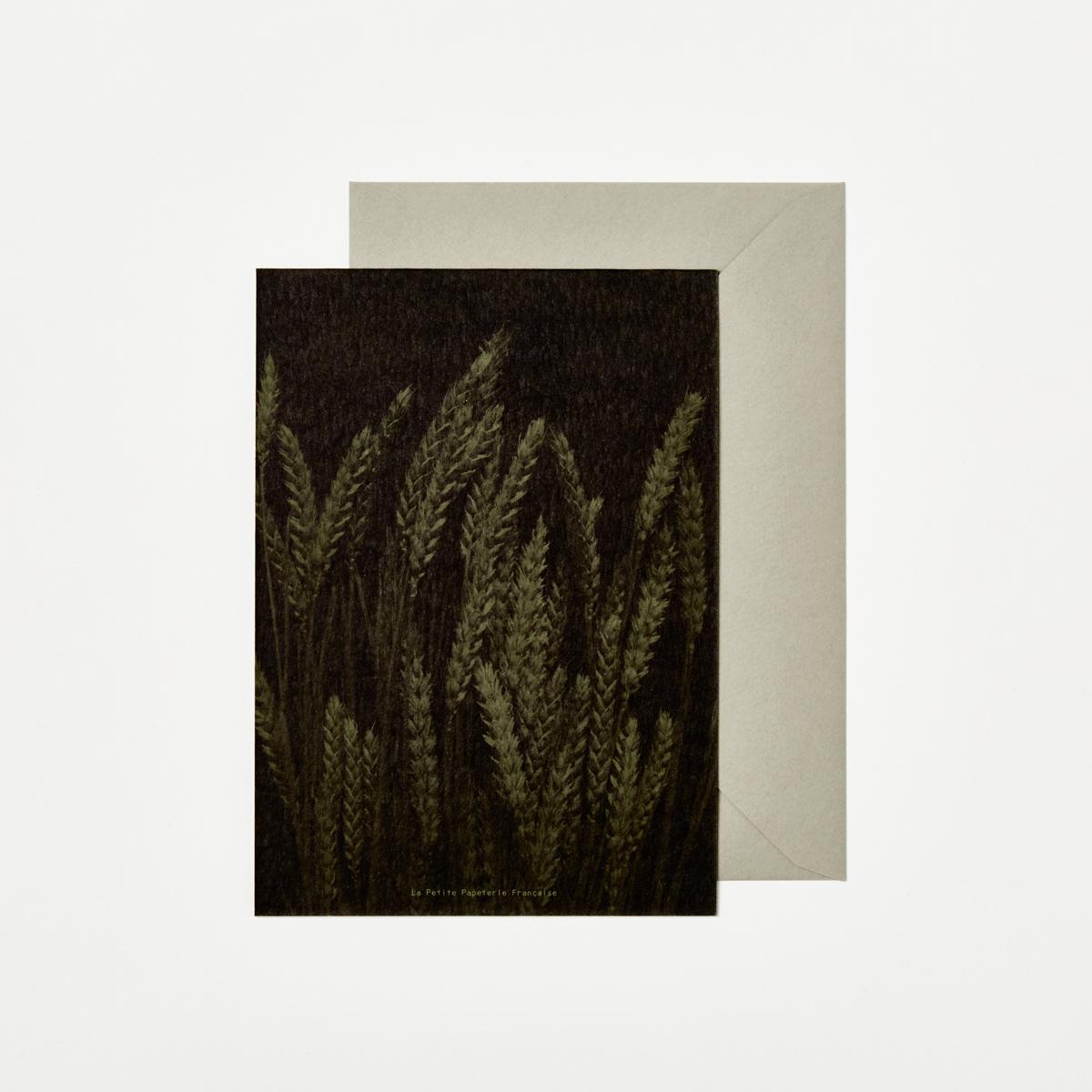 La Petite Papeterie Française Wheat Greeting Card