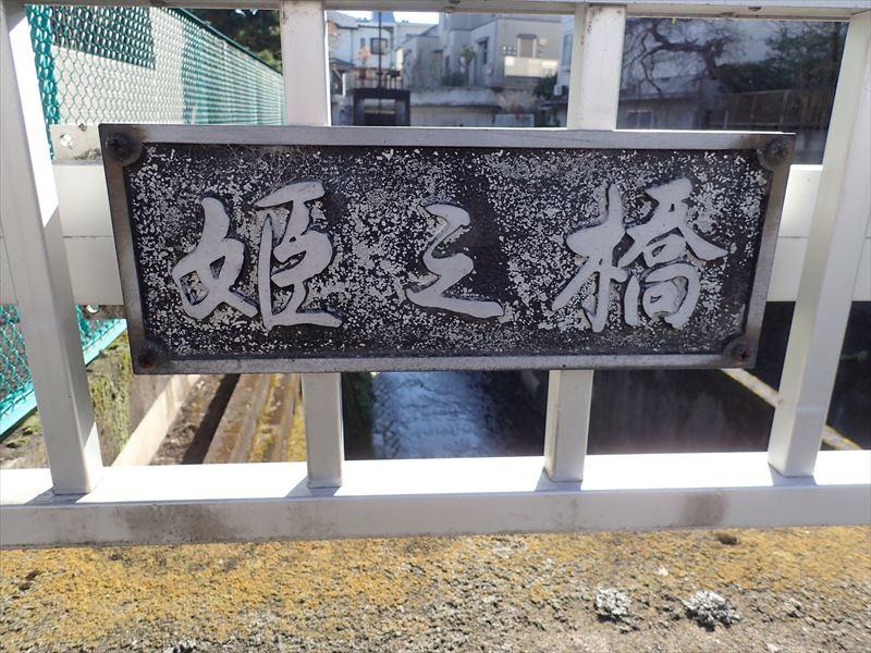 上野毛通りから下流にある「姫の橋」