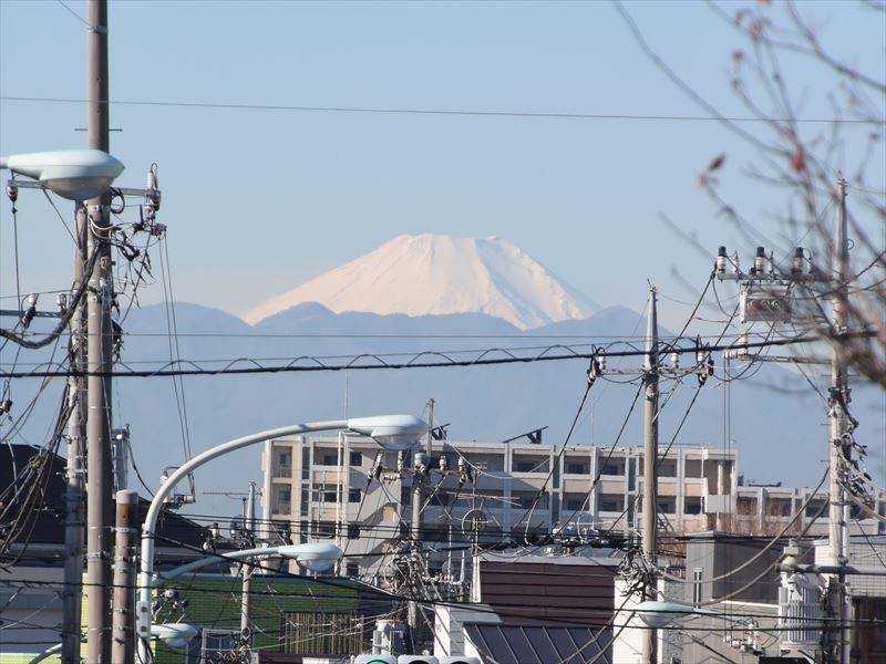 駒沢通りからは富士山が良く見えます