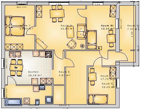 Grundriss Wohnung BE 1