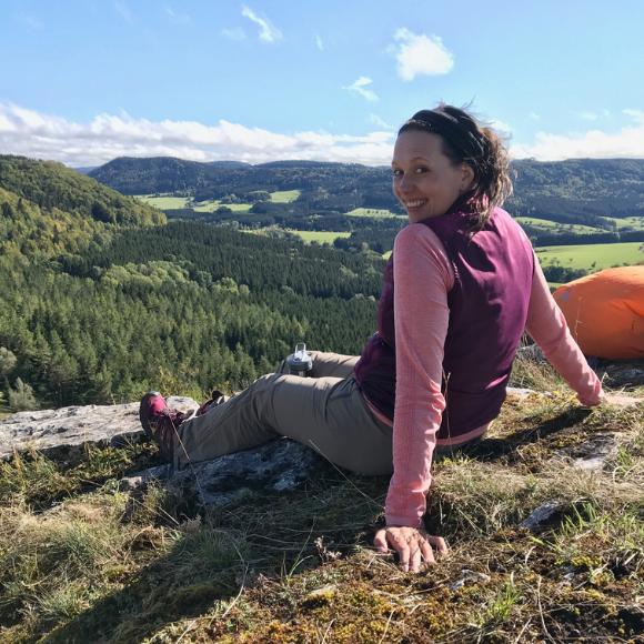 Fernwanderung über die Schwäbische Alb - Wanderbloggerin Audrey auf dem Albsteig (HW1) - HVP159
