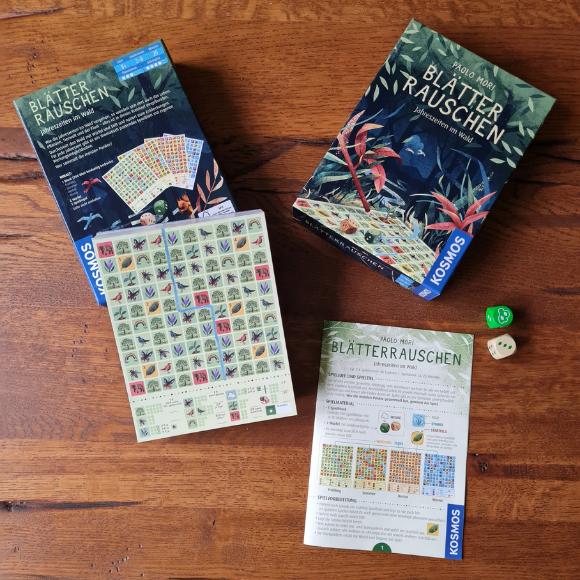 Spielvorstellung Blätter Rauschen - Roll & Write Spiel vom KOSMOS-Verlag - HVP165