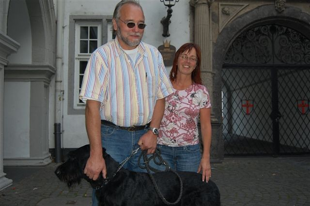 Christiane Peter und ihr Mann sind aus Datteln in der Nähe von Dortmund und machen gerade Urlaub in Koblenz. Das Wahlergebnis kennen sie noch nicht, und wir haben es ihnen auch nicht verraten. Sie hoffen aber auf einen Sieg für Rot-Grün.
