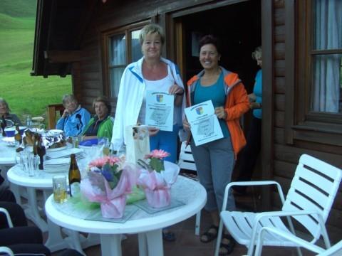 Platz 3 - B-Bewerb: v.l.n.r Grossmann Anna Maria/Leichinger Sonja