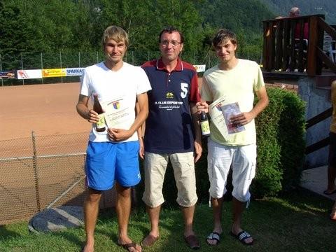 Hannes Hörndler, Obmann TCK, Markus Hörndler - 2. Platz Bewerb II