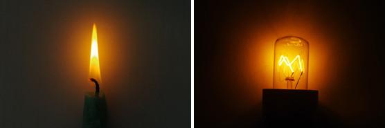 lumière bougie ampoule filament