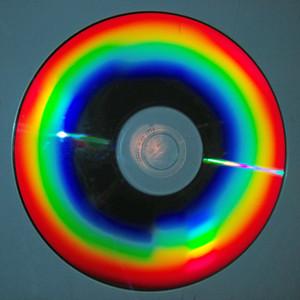 CD reflet diffraction spectre arc-en-ciel