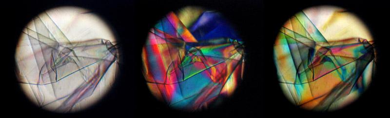 couleurs de polarisation film cellophane
