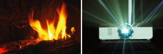 lumière feu vidéoprojecteur