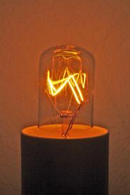 Lampe à filament, incandescence
