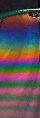 Echelle des couleurs interférentielles sur un film de savon
