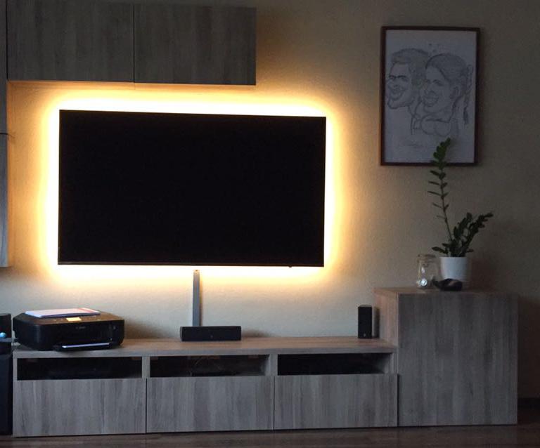 indirekte beleuchtung hinter fernseher indirekte beleuchtung led 75 ideen f r jeden wohnraum. Black Bedroom Furniture Sets. Home Design Ideas